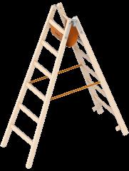 Layher 1038 Holzstehleiter 2x6 Sprossen