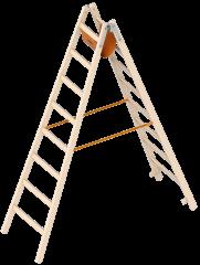 Layher 1038 Holzstehleiter 2x8 Sprossen