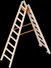 Layher 1038 Holzstehleiter 2x9 Sprossen