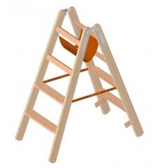 Layher 1020 Holzstehleiter mit 2x4 Stufen