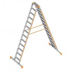 Layher Topic 1043 Stufenstehleiter 2x13 Stufen