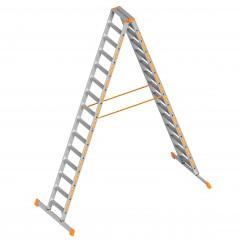 Layher Topic 1043 Stufenstehleiter 2x15 Stufen