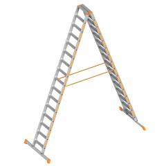 Layher Topic 1043 Stufenstehleiter 2x16 Stufen