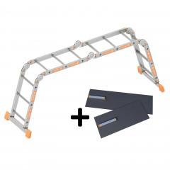 Layher Topic 1057 Kofferraumleiter 4x3 Sprossen inklusive Plattform