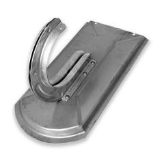 Rundholzhalter auf Metalldachplatte Biber