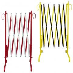 Schake Absperrschere in rot/weiß oder gelb/schwarz 2,50-3,50m lang