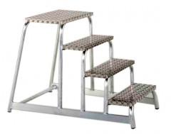 Zarges Aluminium Montagetritt starr AFA P 4 Stufen