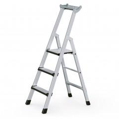 Zarges Comfortstep S gebördelte Stehleiter mit gepolsterter Stufen-Vorderkante 3 Stufen