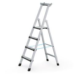 Zarges Comfortstep S gebördelte Stehleiter mit gepolsterter Stufen-Vorderkante 4 Stufen