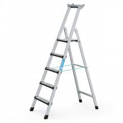 Zarges Comfortstep S gebördelte Stehleiter mit gepolsterter Stufen-Vorderkante 5 Stufen