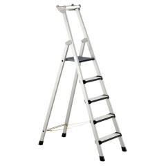 Zarges Comfortstep S gebördelte Stehleiter mit gepolsterter Stufen-Vorderkante