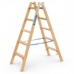 Zarges Holz Stehleiter Crestastep B, beidseitig begehbar 2x5 Stufen