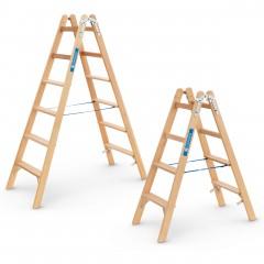 Zarges Holz Stufen- Stehleiter Crestastep B beidseitig begehbar