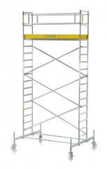 Zarges Fahrgerüst RollMaster 1T mit Fahrbalken, einfache Plattformbreite