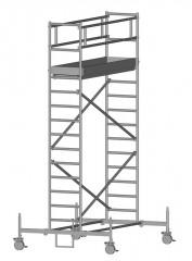 Zarges Fahrgerüst RollMaster 1T mit Fahrbalken 1,80m Plattformlänge, 5,80m AH