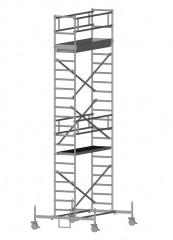Zarges Fahrgerüst RollMaster 1T mit Fahrbalken 1,80m Plattformlänge, 7,75m AH