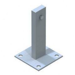 Zarges Fußplatte Stahl verzinkt 120x120mm