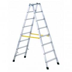 Zarges gebördelte Doppelstufenleiter Nova B 2x7 Stufen