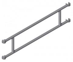 Zarges Geländer für Gerüste, Gerüstlänge 1,80m