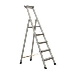 Zarges genietete Stehleiter, eloxiert XLstep S 5 Stufen