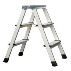 Zarges genietete Stehleiter eloxiert XLstep B 2x3 Stufen