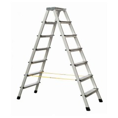 Zarges genietete Stehleiter eloxiert XLstep B 2x7 Stufen