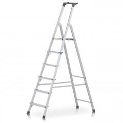 Zarges genietete Stehleiter eloxiert Scana S 6 Stufen