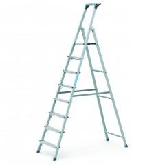 Zarges genietete Stehleiter eloxiert Scana S 8 Stufen