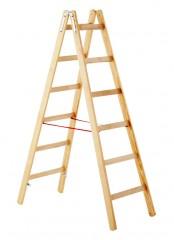 Zarges Holz Stehleiter Cresta B, beidseitig begehbar 2x7 Sprossen