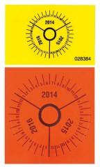 Zarges Jahresplaketten, Durchmesser 25mm