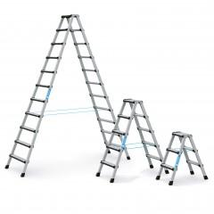 Zarges Comfortstep B Stehleiter mit gepolsterter Stufen-Vorderkante, beidseitig begehbar