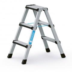 Zarges Comfortstep B Stehleiter mit gepolsterter Stufen-Vorderkante 2x3 Stufen