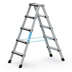 Zarges Comfortstep B Stehleiter mit gepolsterter Stufen-Vorderkante 2x5 Stufen