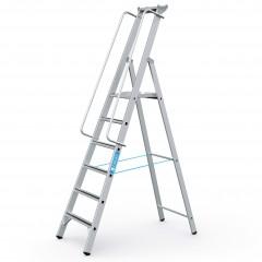 Zarges gebördelte Stehleiter Meistertritt S mit großer Plattform und Ablage 6 Stufen
