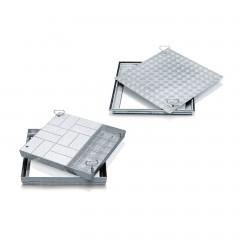Zarges Schachtabdeckungen aus Edelstahl mit Wanne oder Deckplatte