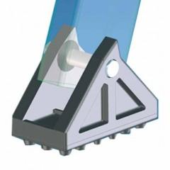 Zarges Schwenkfüße mit Gummiauflage 100x55mm 1 Stück