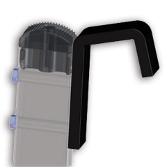 Zarges Spezialhaken mit Kunststoffüberzug für flache Auflage