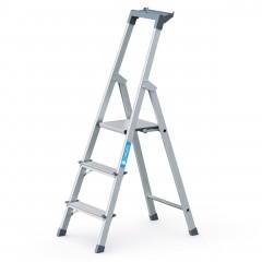 Zarges genietete Stehleiter eloxiert Scana S 3 Stufen