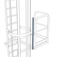 Verbindungsstütze 1.200mm für Steigleitern