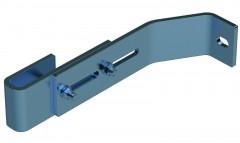 Zarges Wandhalter verstellbar 200-250mm Edelstahl
