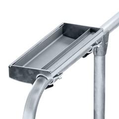 Zarges Ablageschale für Geländerrohr Durchmesser 36-40mm