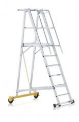 Zarges fahrbare Podestleiter ZAP Safemaster Plus S klappbar