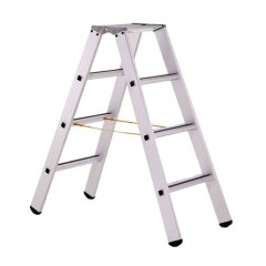 Zarges gebördelte Stehleiter, eloxiert Saferstep B 2x4 Stufen