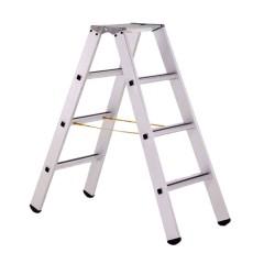 Zarges gebördelte Stehleiter, eloxiert Saferstep B 2x3 Stufen
