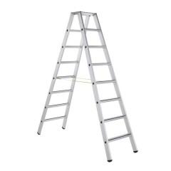 Zarges gebördelte Stehleiter, eloxiert Saferstep B 2x8 Stufen