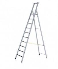 Zarges gebördelte Stufen-Stehleiter R13step eloxiert