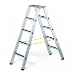 Zarges gebördelte Stufen-Stehleiter R13step-B eloxiert 2x8 Stufen