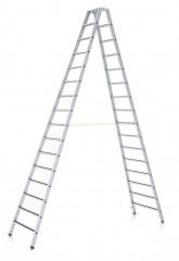 Zarges Z600 gebördelte R13 Stufen-Stehleiter 2x5 Stufen