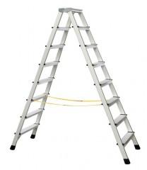 Zarges genietete Stehleiter eloxiert XLstep B 2x8 Stufen