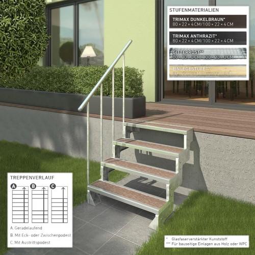 Dolle Außentreppe Gardentop 36-330cm Geschosshöhe 80-100cm breit